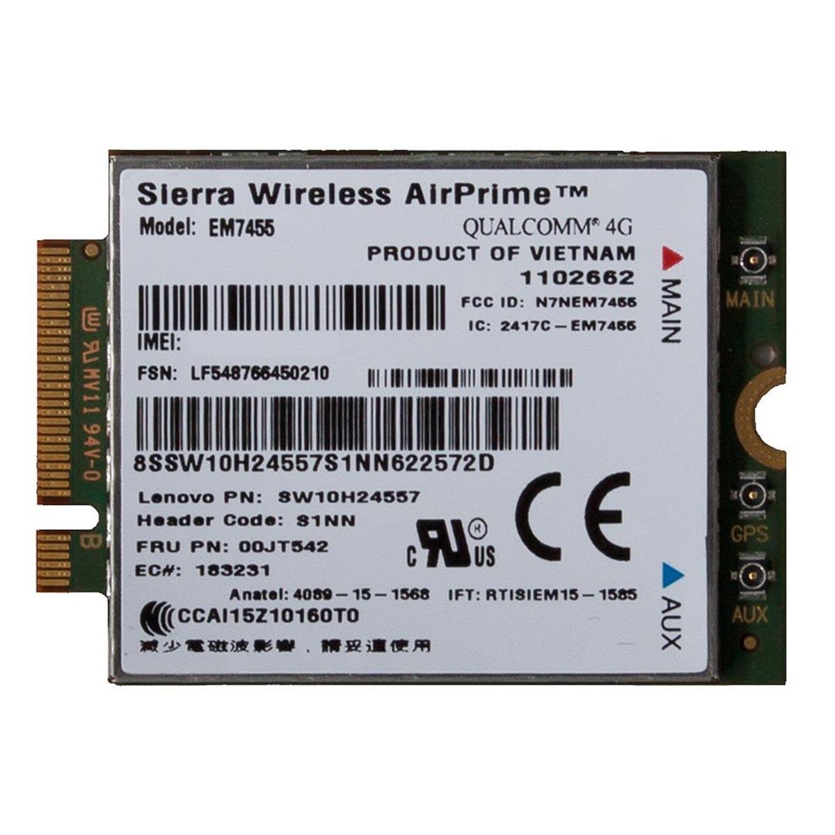 (EOL) Lenovo™ ThinkPad® Sierra EM7455 4G LTE Mobile Broadband
