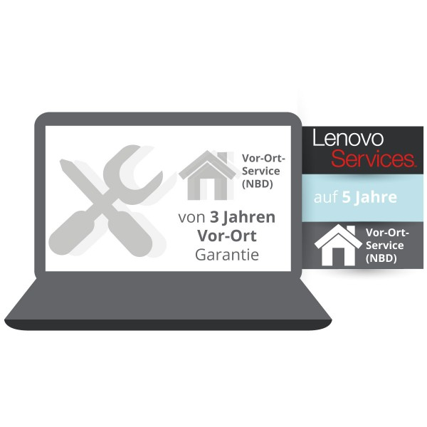 Lenovo Garantieerweiterung auf 5 Jahre Vor-Ort Service