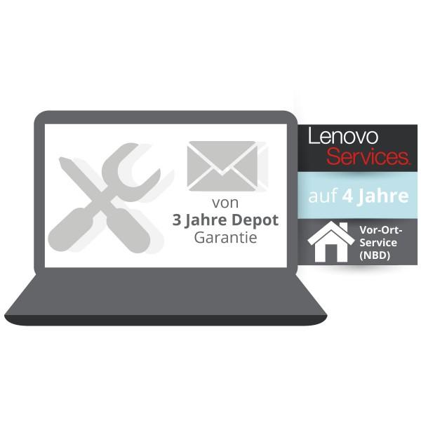 Lenovo™ ThinkPlus® 4 Jahre Vor-Ort-Service für Basisgarantie 3 Jahre Bring-In