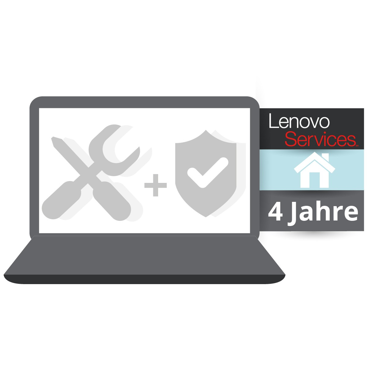 (EOL) Lenovo™ ThinkPlus® 4 Jahre Vor-Ort-Service (NBD) + Unfallschutz (Basisgarantie 3 Jahre Vor-Ort