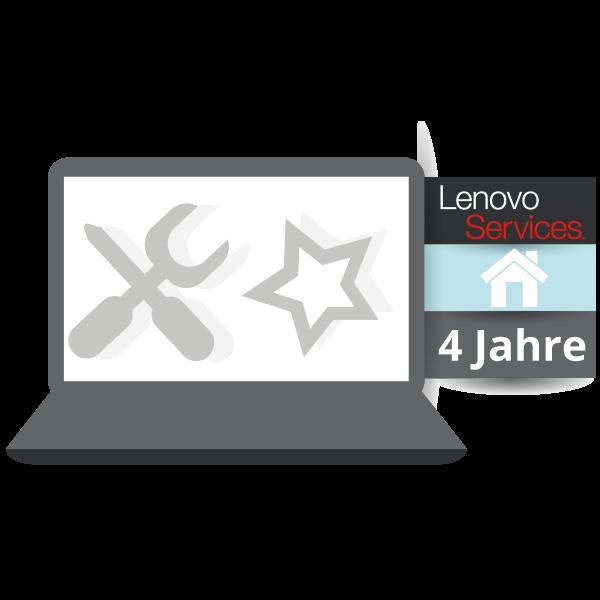 Lenovo™ Garantie Upgrade - Premier Support 4 Jahren Vor-Ort Garantie - Basis 1 Jahr Bring-In