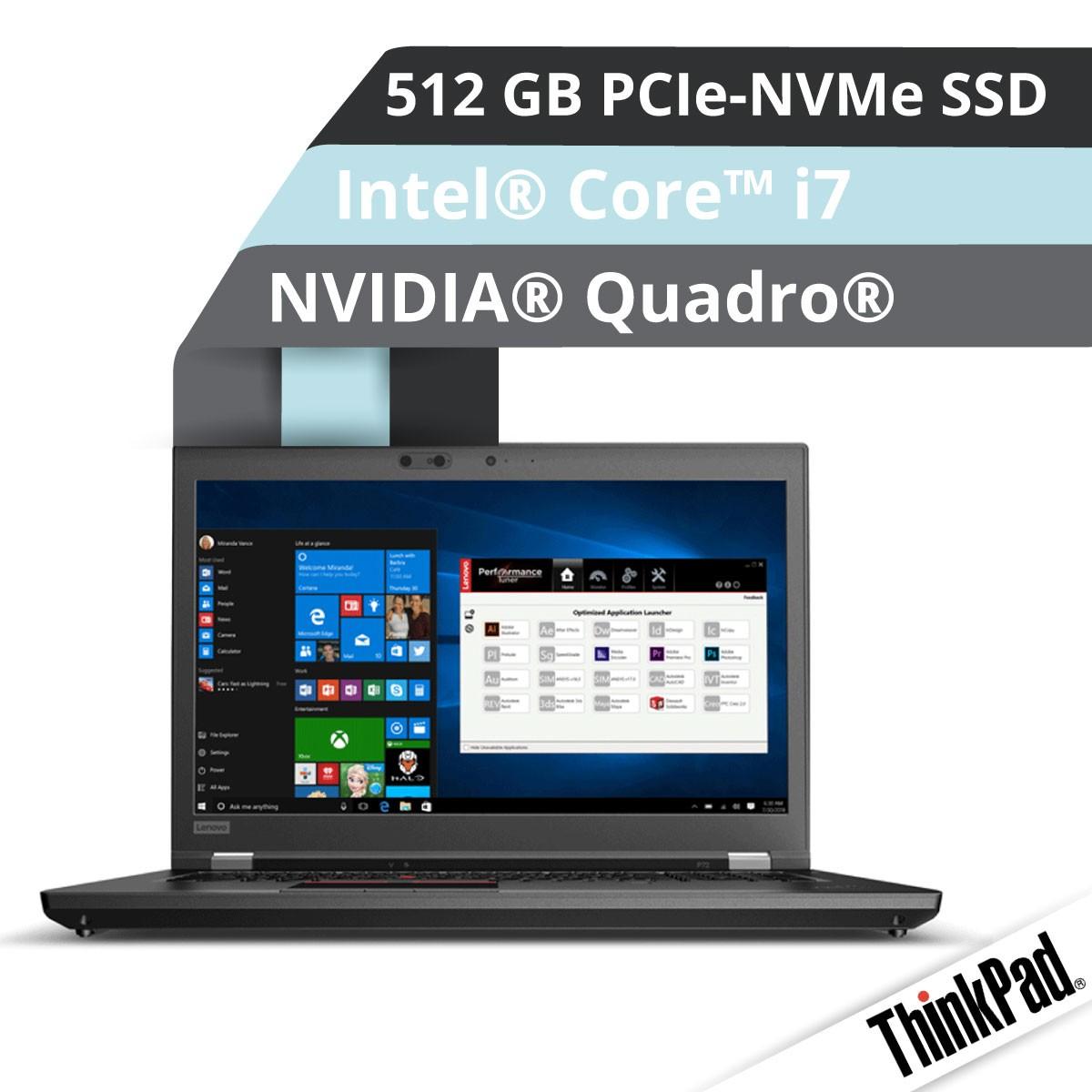 (EOL) Lenovo™ ThinkPad® P72 Workstation Modell 20MB-002U
