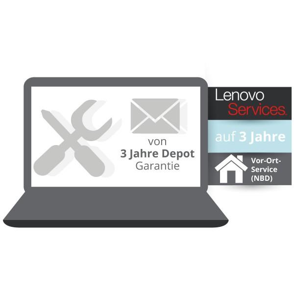 LENOVO® ThinkPlus® 3 Jahre Vor-Ort-Service (NBD) - Basisgarantie 3 Jahr Bring-In
