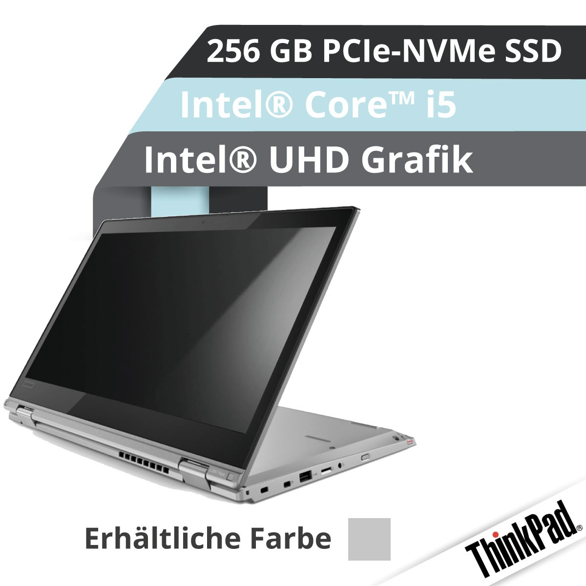 (EOL) Lenovo™ ThinkPad® X380 Yoga Notebook Modell 20LH-0024 (Silber)