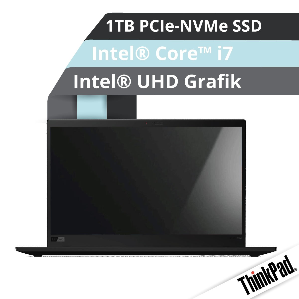 (EOL) Lenovo™ ThinkPad® X1 Carbon (8. Gen) Ultrabook Modell 20UA-S04P